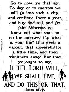 James 4-13-15 KJV