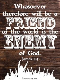 James 4-4 KJV