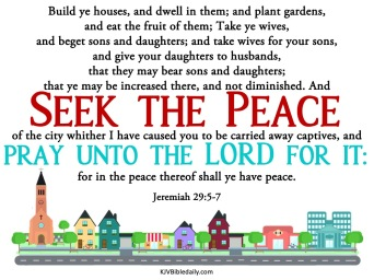 Jeremiah 29.5-7 KJV