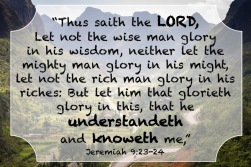 Jeremiah 9.23-24 English