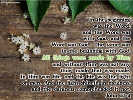 John 1-1-4 KJV