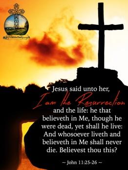 John 11 25-26 KJV