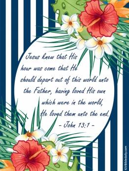 John 13-1 KJV