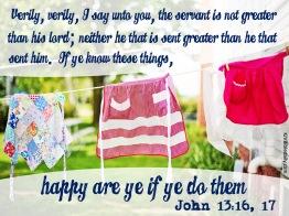 John 13-16, 17 KJV