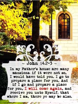 John 14-2, 3 KJV
