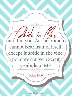 John 15-4 KJV