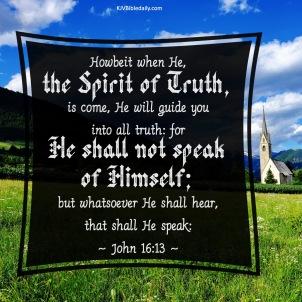 John 16 13 KJV