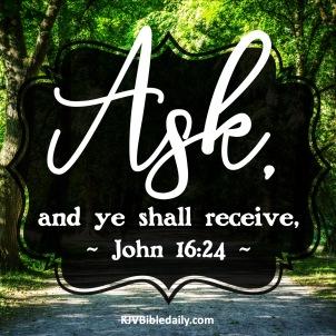 John 16 24 KJV