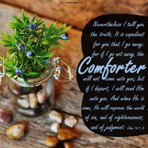 John 16 7, 8 KJV