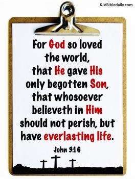 John 3-16 KJV
