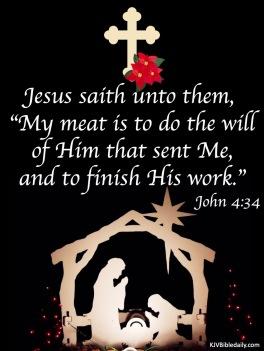 John 4 34 KJV