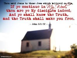 John 8 31-32 KJV