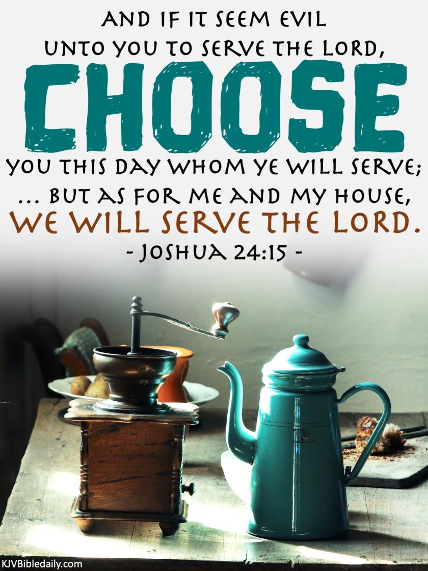Joshua 24-15 KJV