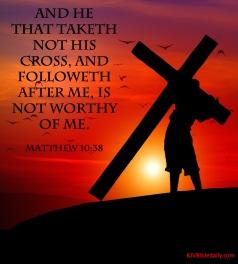 Matthew 10-38 KJV