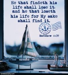 Matthew 10-39 KJV