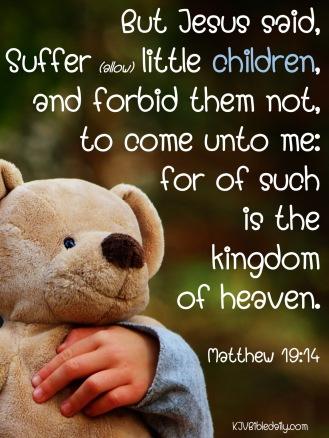 Matthew 19 14 KJV