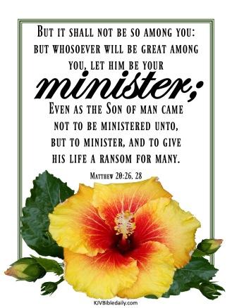 Matthew 20 26, 28 KJV