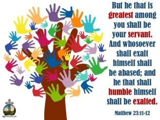 Matthew 23 11-12 KJV