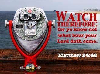 Matthew 24-42 KJV