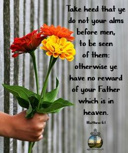 Matthew 6-1 KJV