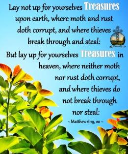 Matthew 6 19, 20 KJV