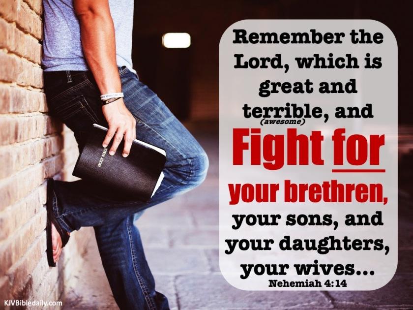 Nehemiah 4-14 KJV