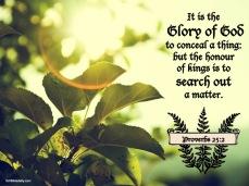 Proverbs 25 2 KJV