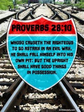 Proverbs 28-10 KJV