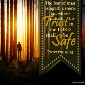 Proverbs 29-25 KJV
