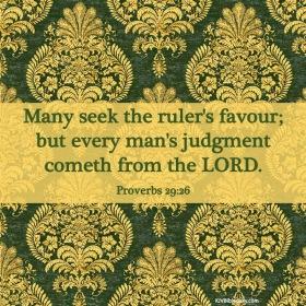 Proverbs 29-26 KJV