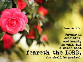 Proverbs 31 30 KJV