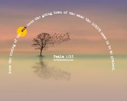 Psalm 113-3 KJV