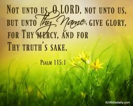 Psalm 115-1 KJV