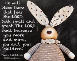 Psalm 115 13-14 KJV