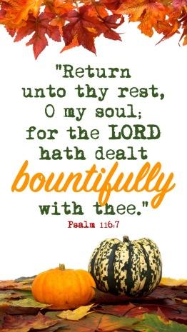 Psalm 116.7 English