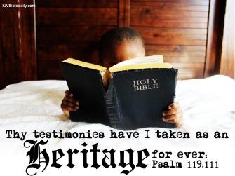 Psalm 119-111 KJV