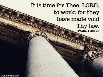 Psalm 119 126 KJV