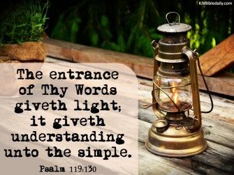Psalm 119 130 KJV