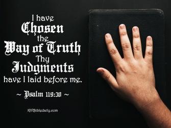 Psalm 119-30 KJV