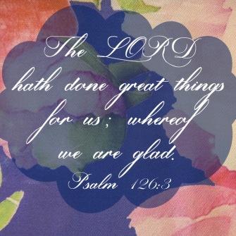 Psalm 126 3 English