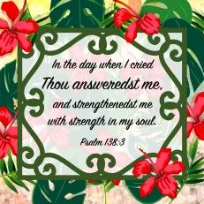 Psalm 138 3 KJV
