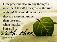 Psalm 139 17-18 KJV