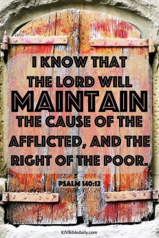 Psalm 140-12 KJV