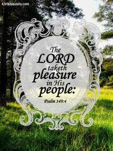 Psalm 149-4 KJV