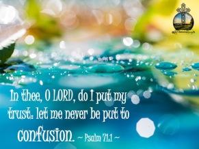 Psalm 71 1 KJV