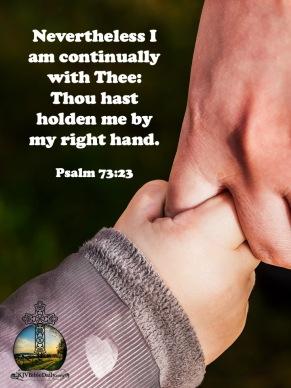Psalm 73 23 KJV
