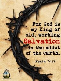 Psalm 74-12 KJV