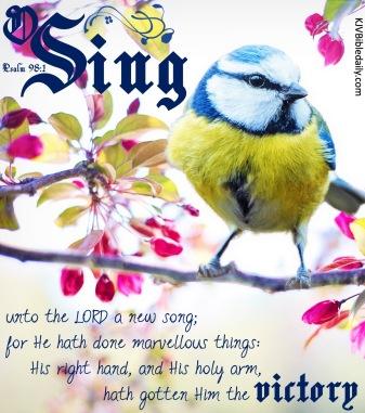 Psalm 98-1 KJV