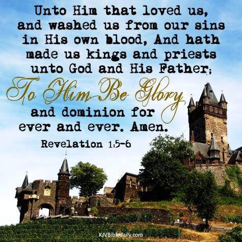 Revelation 1-5-6 KJV