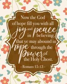 Romans 15 13 KJV